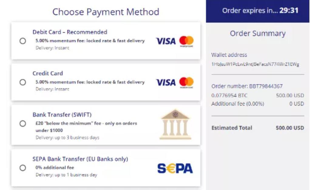 Chọn Phương thức Thanh toán