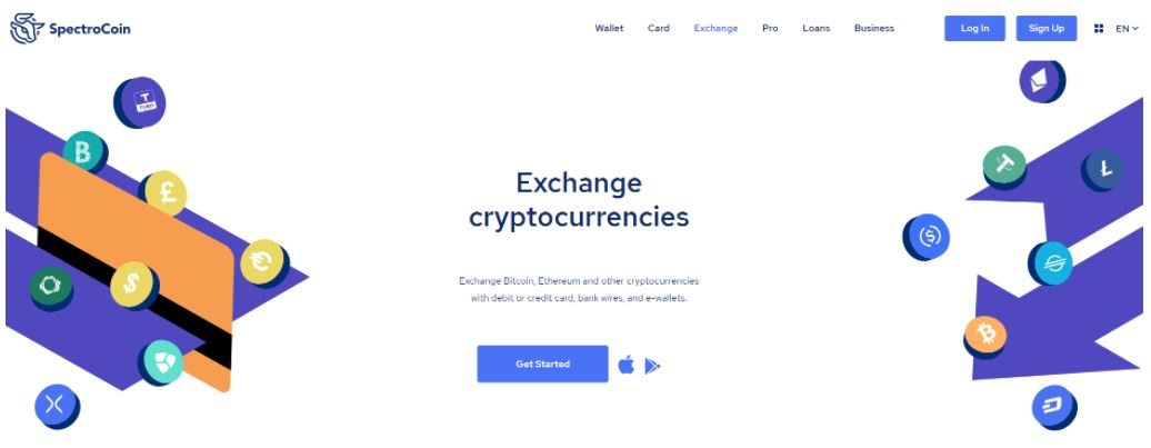 Dịch vụ trao đổi của SpectroCoin