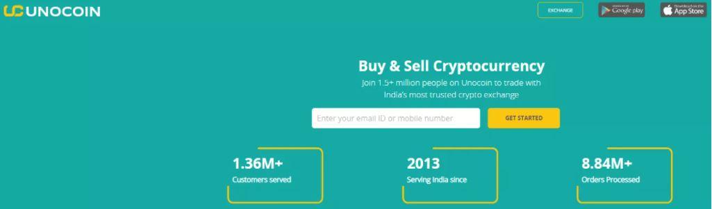 Đánh giá Unocoin: Giao diện nền tảng