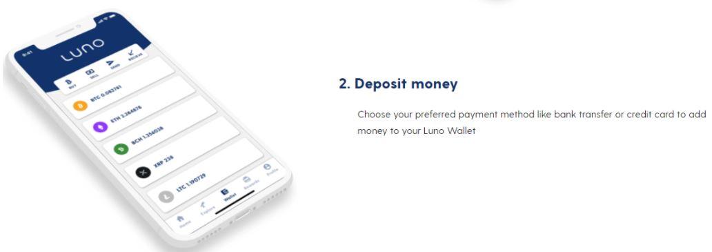 Thêm tiền vào tài khoản của bạn trên Luno