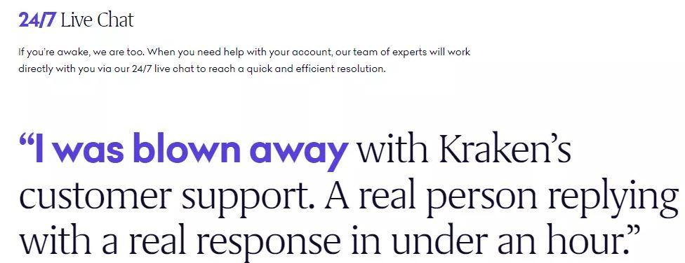 Đánh giá Kraken - Hỗ trợ khách hàng