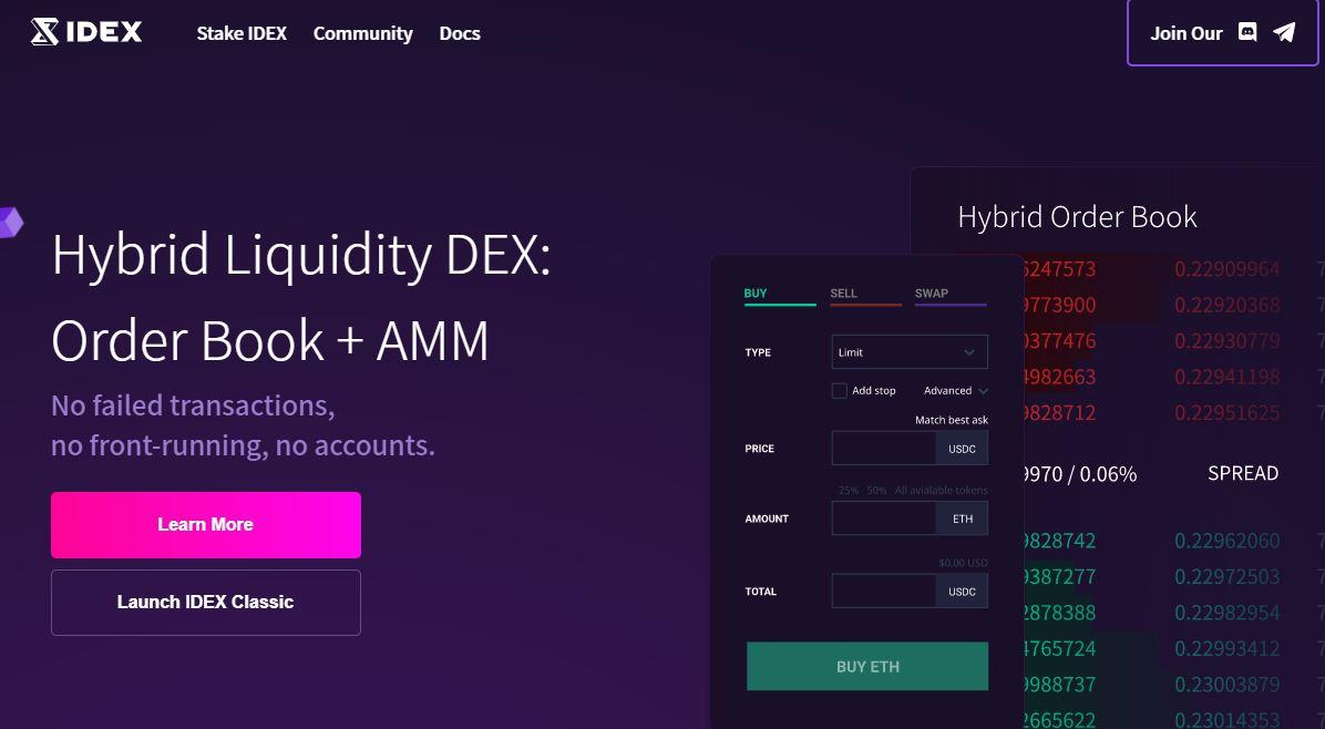 IDEX Exchange là gì?