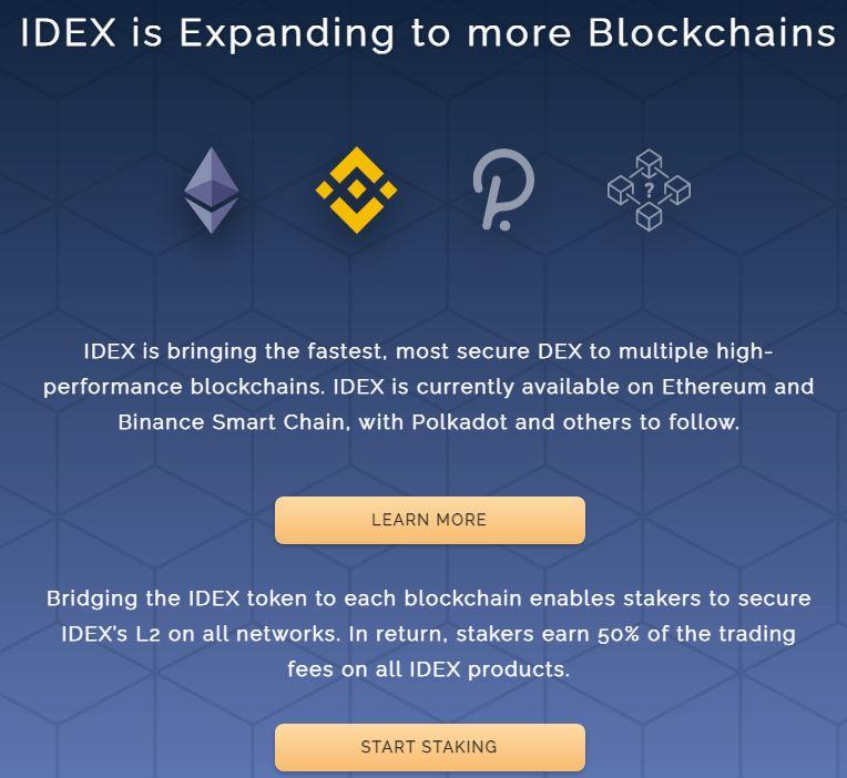 IDEX đang mở rộng ra nhiều blockchain khác