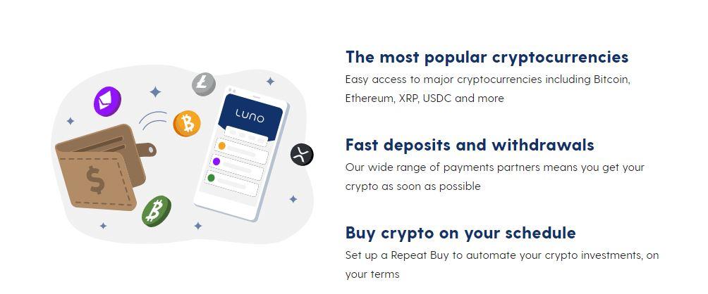 Bắt đầu mua tiền điện tử tại Luno Exchange