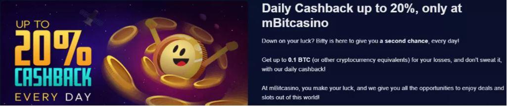 mBit Casino Hoàn tiền hàng ngày