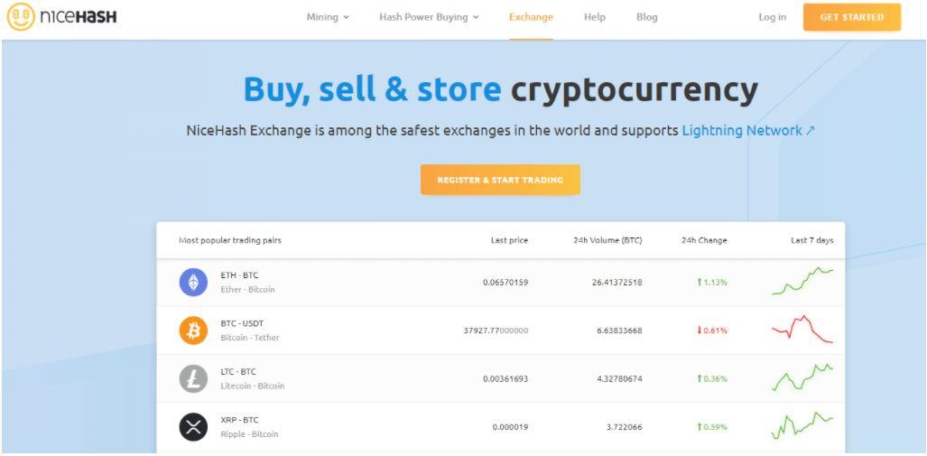 Mua và bán tiền điện tử trên NiceHash