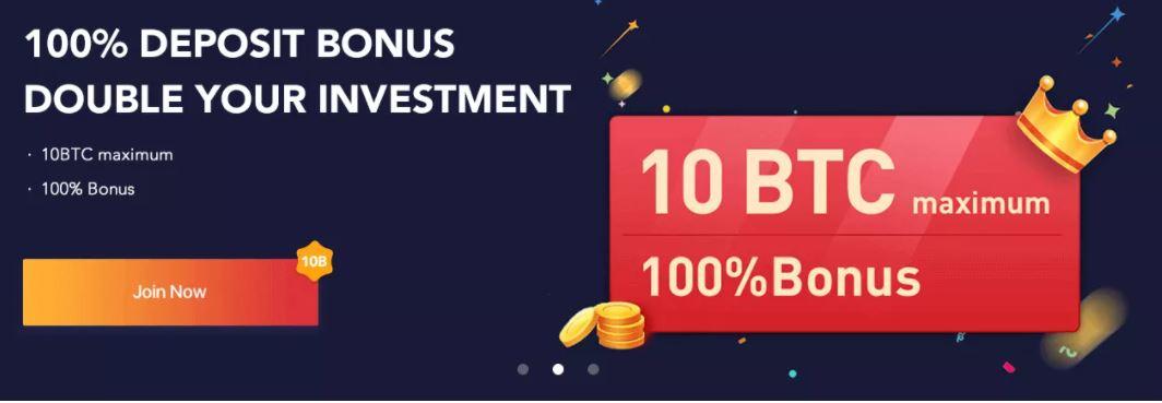 Mua BTC và nhận 100% tiền thưởng khi gửi tiền Bexplus