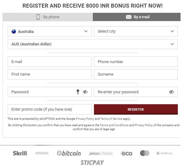 Quy trình đăng ký 888starz