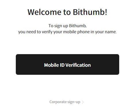 Quy trình đăng ký Bithumb