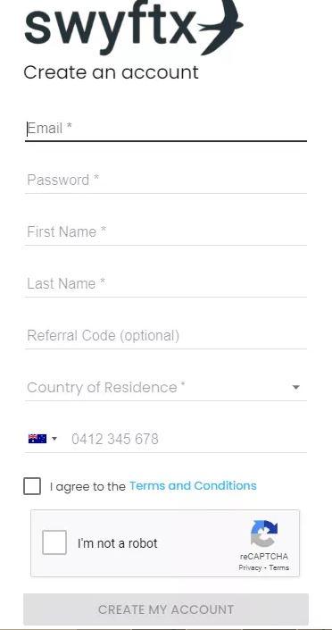 Đánh giá Swyftx - Quy trình đăng ký