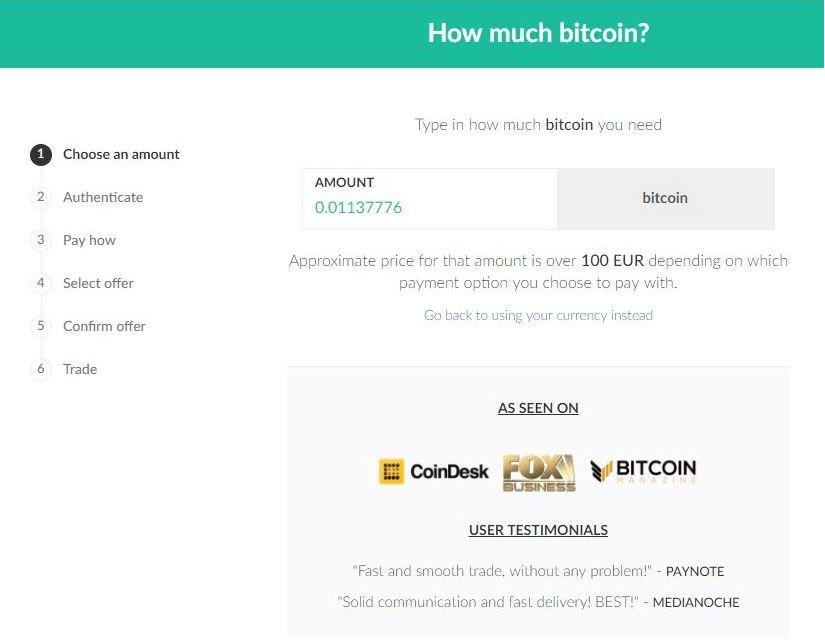 Quy trình mua Bitcoin tại Paxful