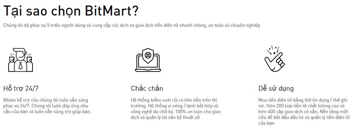 Tại sao chọn BitMart?