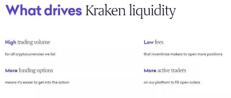Đánh giá Kraken - Thanh khoản