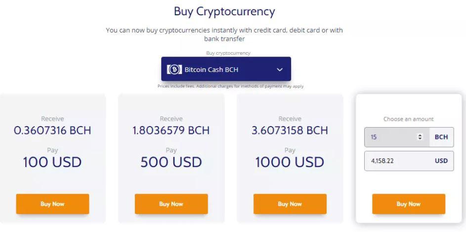 Chọn số tiền cụ thể để mua tiền điện tử tại Coinmama
