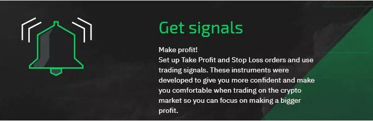 Tín hiệu giao dịch tiền điện tử của StormGain