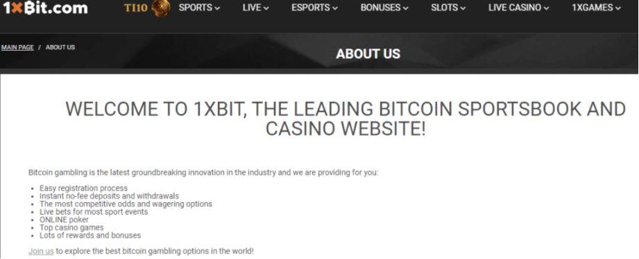 Các tính năng của 1xBit Casino