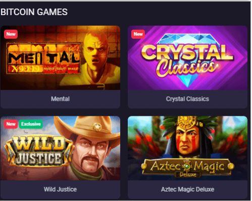 Trò chơi BTC do BitStarz cung cấp