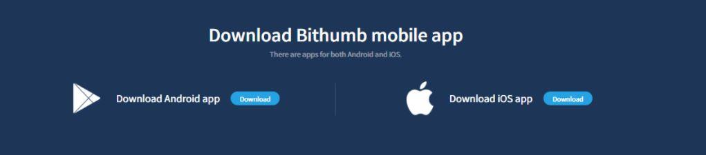 Ứng dụng di động Bithumb